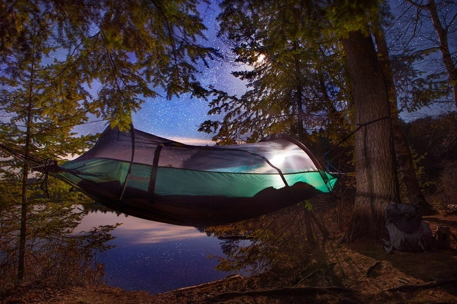Camping Hammock Tent on Trees