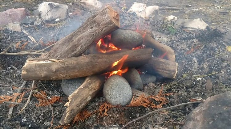 heating up a rock