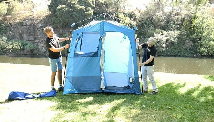 shower tent benefits