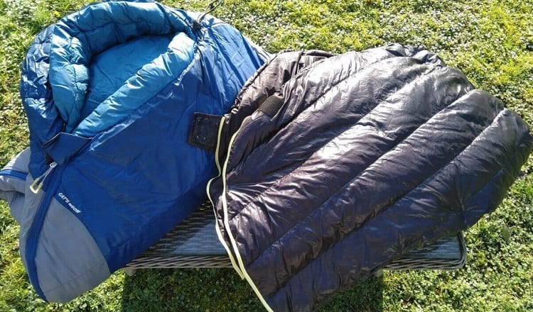 sleeping bags and pads