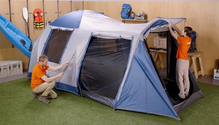 set up a large tent