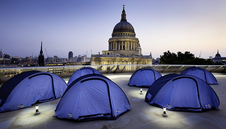 camping in the city